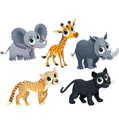 Funny african animals vector image