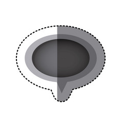 grayscale sticker of oval speech with tail vector image vector image