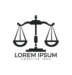 Law and attorney logo design vector