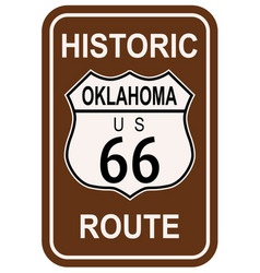 Oklahoma historic route 66 vector