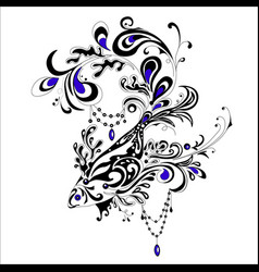 abstract tatoo fish vector image vector image