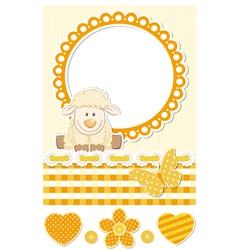 Baby sheep sunny scrapbook set vector image vector image
