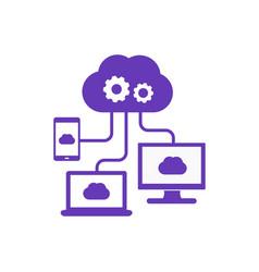 cloud computing technologies icon vector image