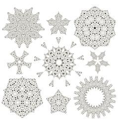 oriental round ornament set vector image vector image
