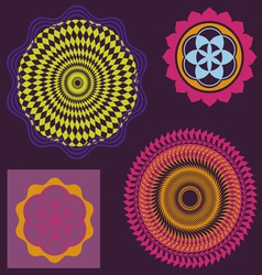 spring floral meditation elements collection vector image vector image