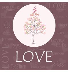 Valentine s Day or Wedding invitation card vector image
