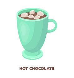 a cup of hot chocolatedifferent types of coffee vector image