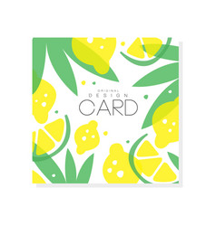 Abstract fruit card with juicy lemons limes and vector