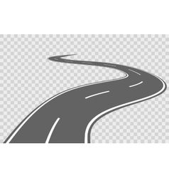 Abstract winding road vector