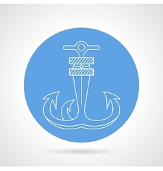 Anchor round icon vector image