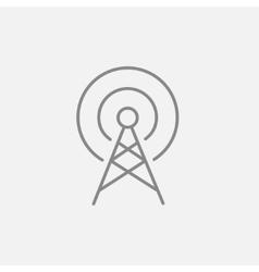 Antenna line icon vector image