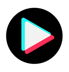 arrow play icon web symbol social media concept vector image