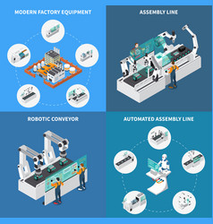 Assembly line design concept vector