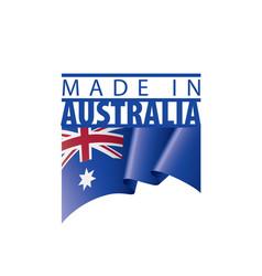 Australia flag on a white vector