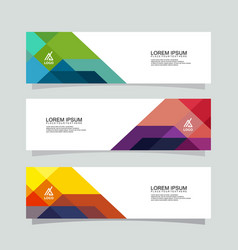 banner background modern designbusiness template vector image
