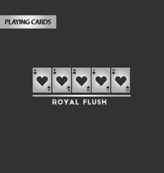 Black and white style royal flush vector