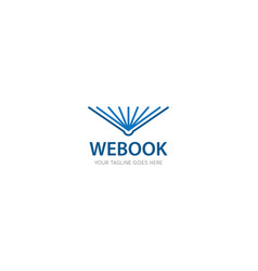 book logo and icon vector image