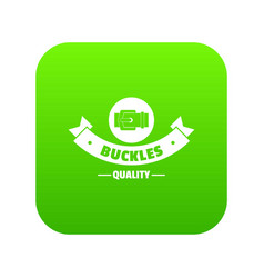 Buckle strap icon green vector