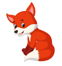 cartoon funny fox vector image