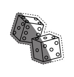 Casino game dices vector