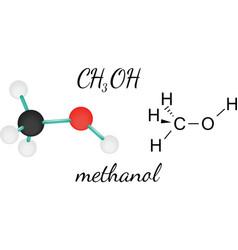 CH3OH methanol molecule vector image