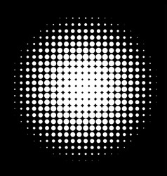 Circle in halftone halftone dot pattern vector