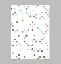 Colorful abstract dot pattern brochure background vector