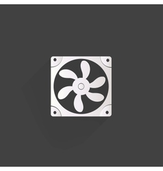 Computer cooling fan icon vector image