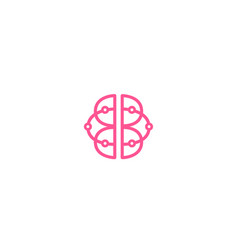 Creative abstract human brain technology wires vector