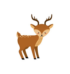 cute deer wild animal icon vector image