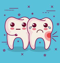 Dental health related design vector