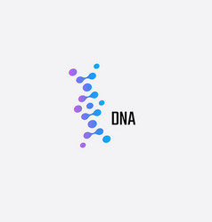 dna logo concept for medical development and vector image