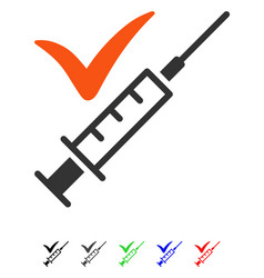 Done vaccination flat icon vector