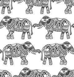 Elephants background vector