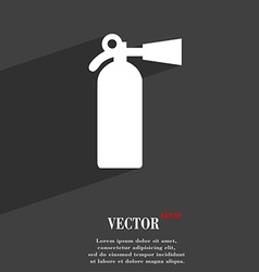 extinguisher icon symbol Flat modern web design vector image