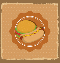 Fast food gastronomy vector