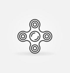 Fidget spinner icon vector