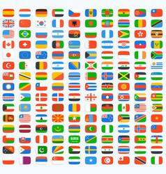 flag world icons vector image