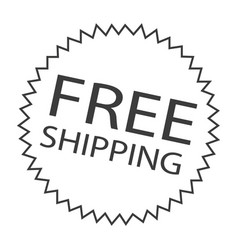 free shipping label vector image