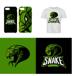 furious snake sport club isolated logo vector image