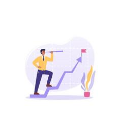Goal motivation aspiration startup leadership vector