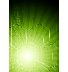 Green hi-tech background vector image