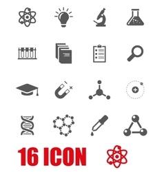 grey science icon set vector image