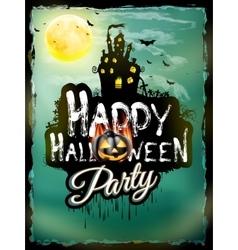 Halloween night background EPS 10 vector image