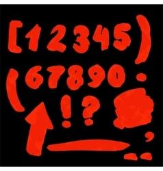Handwritten numbers vector