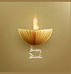 Happy diwali indian deepavali hindu festival of vector