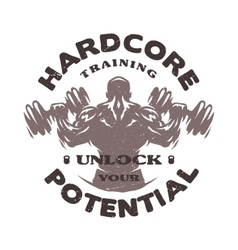 Hardcore training Emblem vector