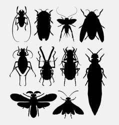 Insect bug small animal silhouette 1 vector