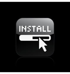 Install icon vector