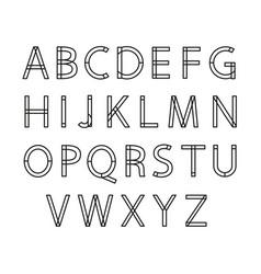 linear alphabet vector image